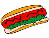 Desenho Cachorro quente pintado por Hot Dog