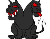 Desenho Cão de duacabeças pintado por sergo  malandro