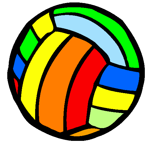 Resultado de imagem para voleibol desenho colorido