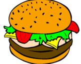 Desenho Hamburguer completo pintado por hamburguer