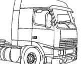 Desenho Camião pintado por carreta