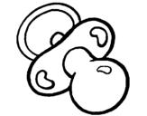 Desenho Chupeta pintado por mamadeira
