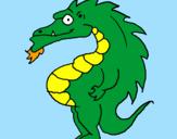 Desenho Dragão barrigudo pintado por dragon ball z