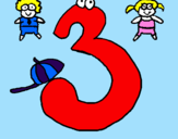Desenho Três pintado por paolla
