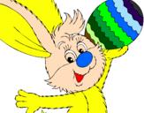 Desenho Coelho e ovo de páscoa II pintado por wesley luga