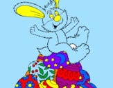 Desenho Coelhinho da Páscoa pintado por luiz