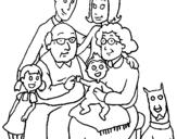 Desenho Família pintado por ana laura