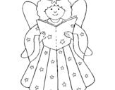 Desenho Fada pintado por joana