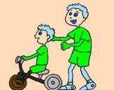Desenho Triciclo pintado por marcos viniciuswaopçkjbvc