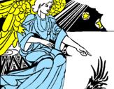 Desenho Anjo da manjedoura pintado por any