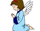 Desenho Anjo a orar pintado por ana  beatriz   santos