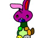 Desenho Art o coelho pintado por giovanni