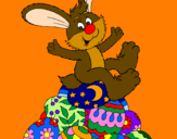Desenho Coelhinho da Páscoa pintado por antonio