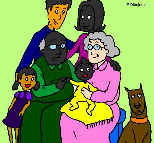 Desenho Família pintado por witor