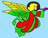 Desenho Anjo com grandes asas pintado por vinicius lima
