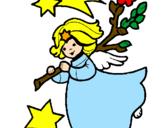 Desenho Ninfa natalícia pintado por enzo