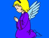 Desenho Anjo a orar pintado por duda e cathi