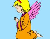 Desenho Anjo a orar pintado por Misselsa
