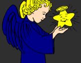 Desenho Anjo e estrela pintado por  thiago