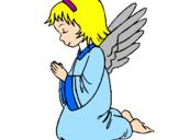 Desenho Anjo a orar pintado por rosa maria