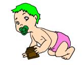 Desenho Bébé pintado por allison .b.