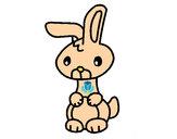 Desenho Art o coelho pintado por vick