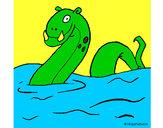 Desenho Monstro do lago nes pintado por leonardoga