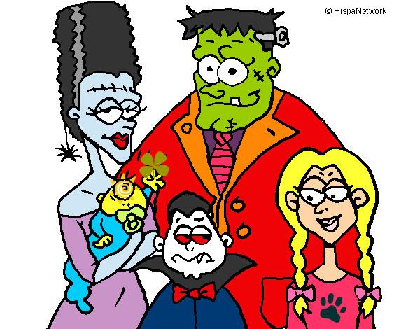 Desenho Família de monstros pintado por Joaoreal