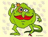Desenho Monstro hermafrodita pintado por brunodv