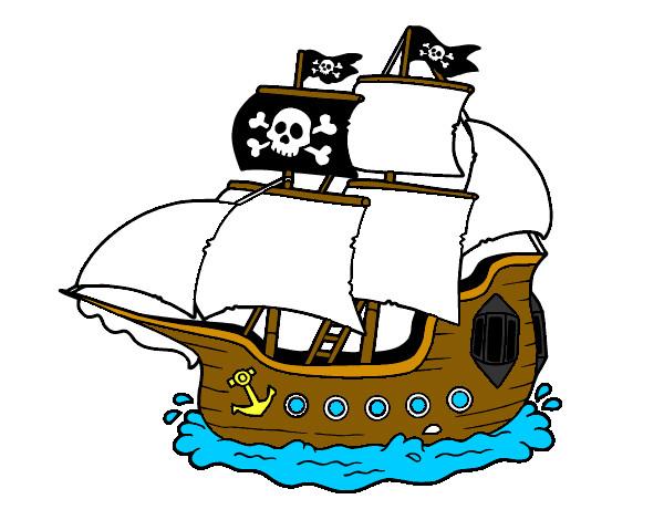 Desenhos De Contos E Lendas, Navios De Piratas Pintados E