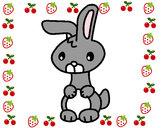 Desenho Art o coelho pintado por Leal