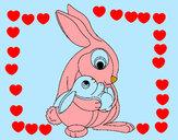 Desenho Mãe coelho pintado por daniel23