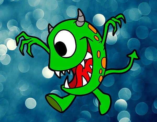 Desenho Monstro com um olho pintado por dvbruno