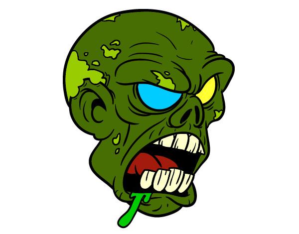 Desenho Cabeça de zombie pintado por SrtMalik