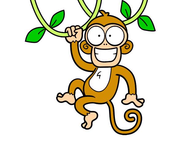 Desenhos De Animais, Macacos Pintados E Coloridos Mas