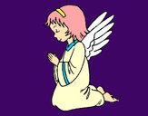 Desenho Anjo a orar pintado por ImShampoo