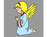 Desenho Anjo a orar pintado por MariaK