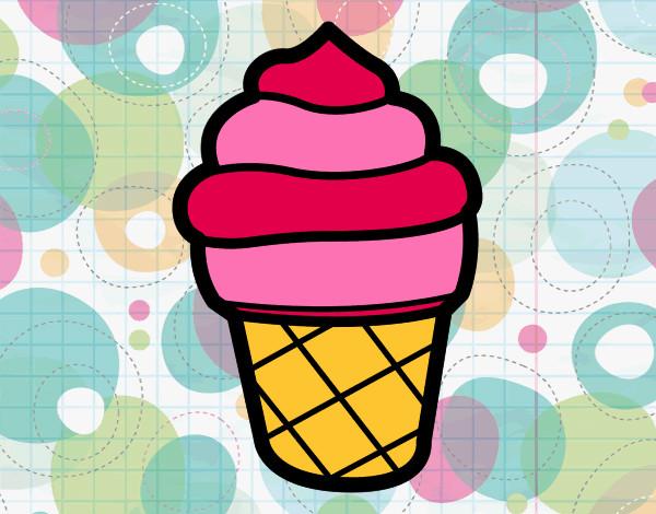 Desenho Gelado doce pintado por bruneka