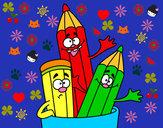 Desenho Lápis de cores pintado por bruneka