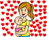 Desenho Em braços da mãe pintado por EMILY2