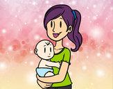 Desenho Em braços da mãe pintado por ImShampoo