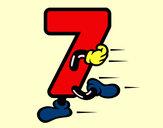 Desenho Número 7 pintado por danidan