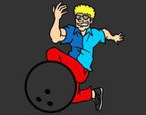 Desenho Homem de boliche pintado por gudafutrou