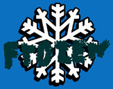 Desenho Copo de neve pintado por YULA