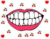 Desenho Boca e dentes pintado por amanda1022
