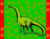 Desenho Mamenquissauro pintado por Ga-briel