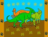 Desenho Manada de herbívoros pintado por Ga-briel