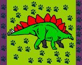 Desenho Stegossaurus pintado por Ga-briel