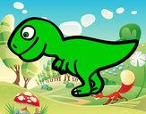 Desenho Tiranossauro rex jovem  pintado por Dado