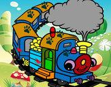 Desenho Trem sorridente pintado por MATHEUSBR